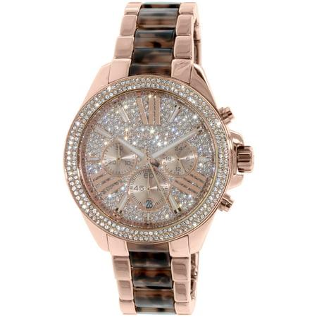 Michael Kors Women's Wren Blush Tortoise and Rose Gold-Tone Stainless Steel Watch MK6159
