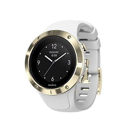 Suunto Spartan Trainer Wrist HR Steel Watch, White/Gold