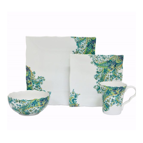 222 Fifth Surya 16 Piece Dinnerware Set, Service for 4 by