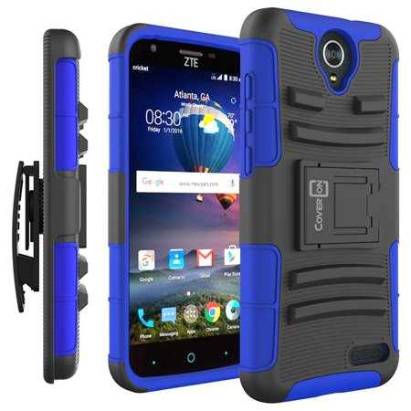 CoverON ZTE ZMax Champ 4G LTE / ZMax Grand LTE / Avid 916 Case, Explorer Series Protective Holster Belt Clip Phone Cover