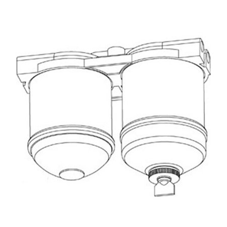 VPD6851 New Double CAV Fuel Filter Assm Made for Case-IH