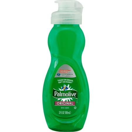- Palmolive Dishwashing Liquid, Original Scent, 3oz Bottle, 72/Carton