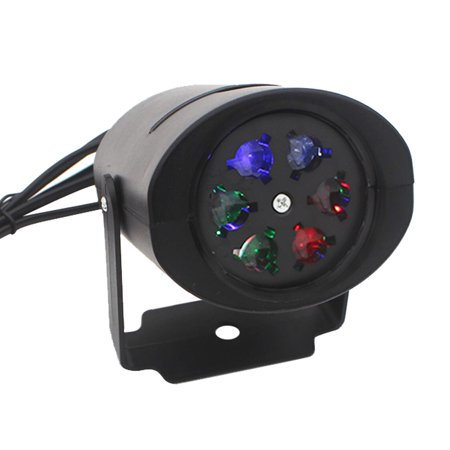 85-260V 4W Mini LED RGB Gobo Light Projectior Effect Stage Lamp with 4 Changeable Films Multi-pattern Cards for Birthday Party Valentine's Day Wedding Halloween Christmas Festival
