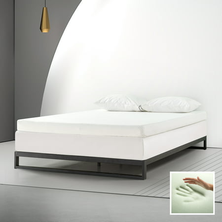 "Spa Sensations By Zinus 4"" Memory Foam Mattress Topper With Theratouch, Queen"