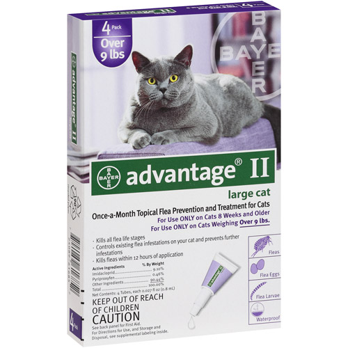 Advantage II Topical Flea Prevention And Treatment For Cats Over 9 lbs, 4ct