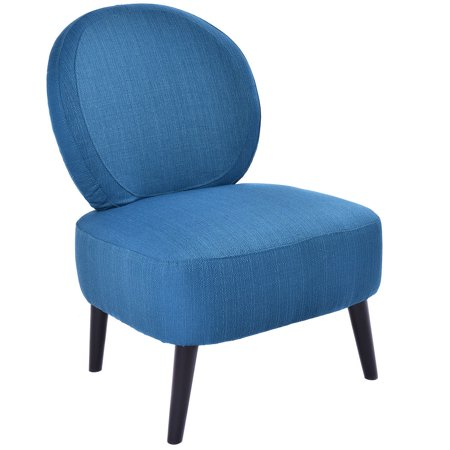 Costway Armless Accent Chair Round Back Dining Chair Home Living Room Furnitu