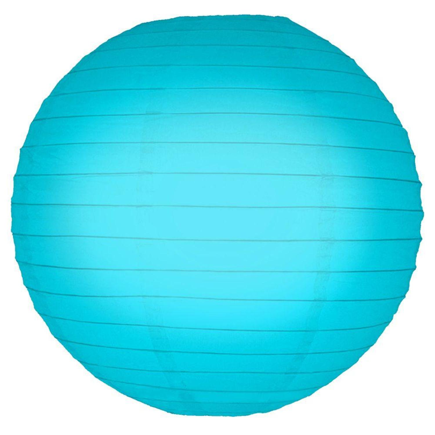 """Pack of 5 Turquoise Garden Patio Round Chinese Paper Lanterns 10"""""""