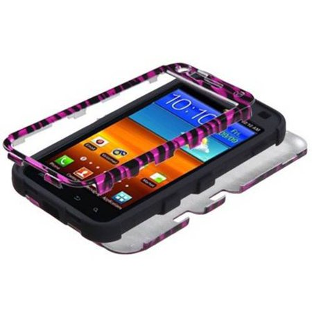 Samsung D710 Epic Touch 4G MyBat TUFF Hybrid Protector Case, Zebra Skin Hot Pink/Black/2D (Touch Zebra)
