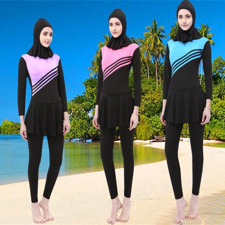 Women's Muslim Islamic Full Coverage Swimwear Set