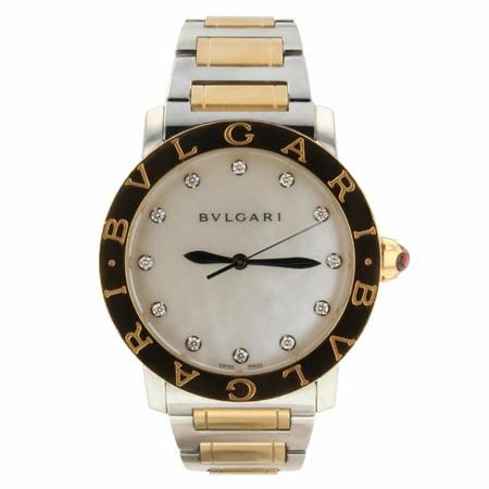 Pre-Owned Bvlgari Bvlgari BBLP37SG 18k Rose Gold /steel Women Watch (Certified Authentic & (Bvlgari 18k Gold Case)