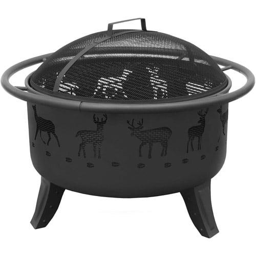Landmann USA Patio Lights Deer Firebowl, Black