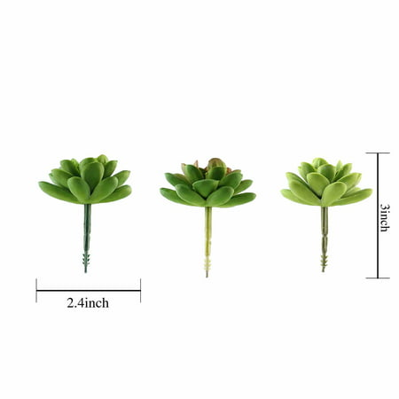 BalsaCircle 3 pcs 3-Inch Assorted Artificial Faux Succulent Picks Stems Wedding Tabletop Arrangement Centerpieces Decorations](Wedding Succulents)