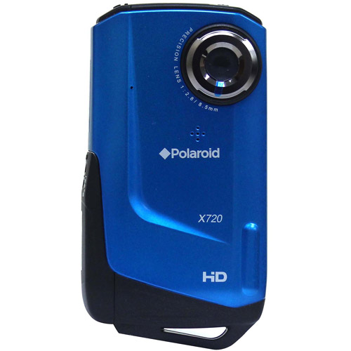 """Polaroid XVF-720LC Blue Waterproof 720p HD Digital Camcorder with 2"""" TFT LCD"""