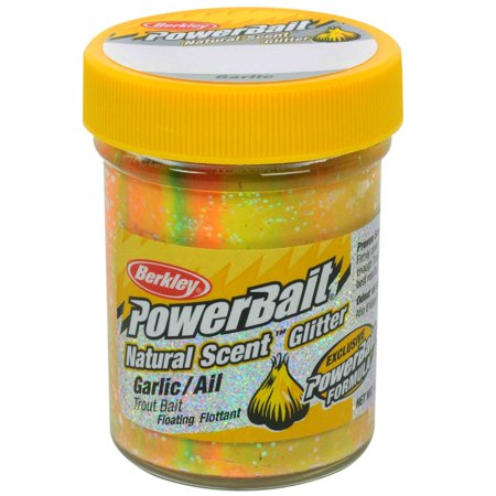 Berkley PowerBait Natural Glitter Trout Dough Bait Garlic Scent/Flavor,