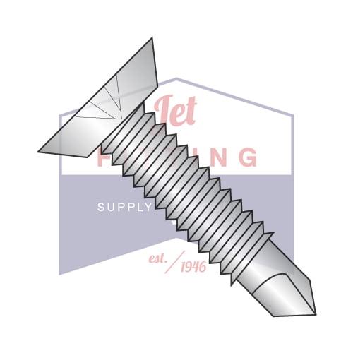 "10-24 x 1"" Self-Drilling Screws | Machine Screw Thread | Phillips | Flat Undercut Head | 410 Stainless Steel (Quantity: 3000)"