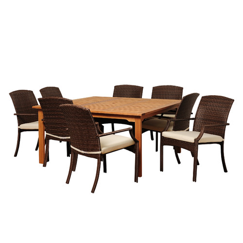 International Home Miami Manchester 9 Piece Dining Set