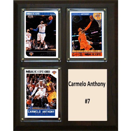 C Collectables Nba 8X10 Carmelo Anthony New York Knicks 3 Card Plaque