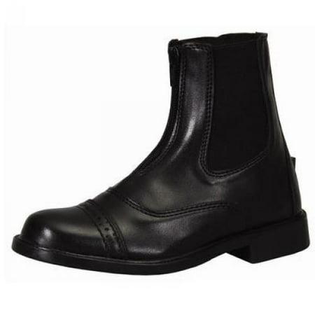 TuffRider Children's Front Zip Paddock Boots, Mocha, 1 - Eskadron Horse Front Boots