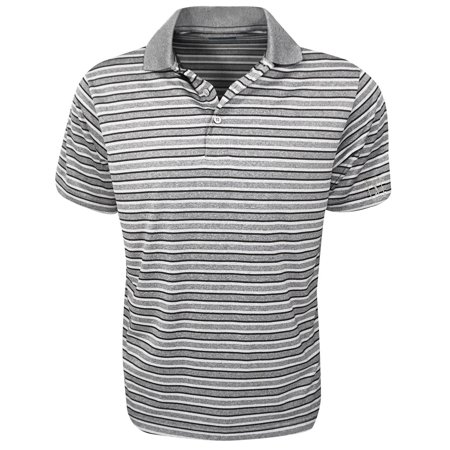 Pga Tour Golf  Short Sleeve Heather Stripe Polo