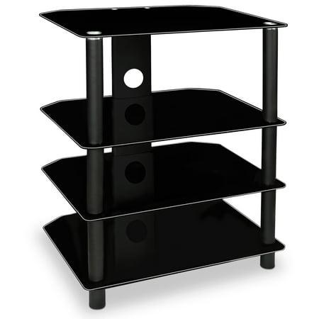 Mount-It! TV Media Stand, Glass Shelves forAudio Video Components (Mi-867)