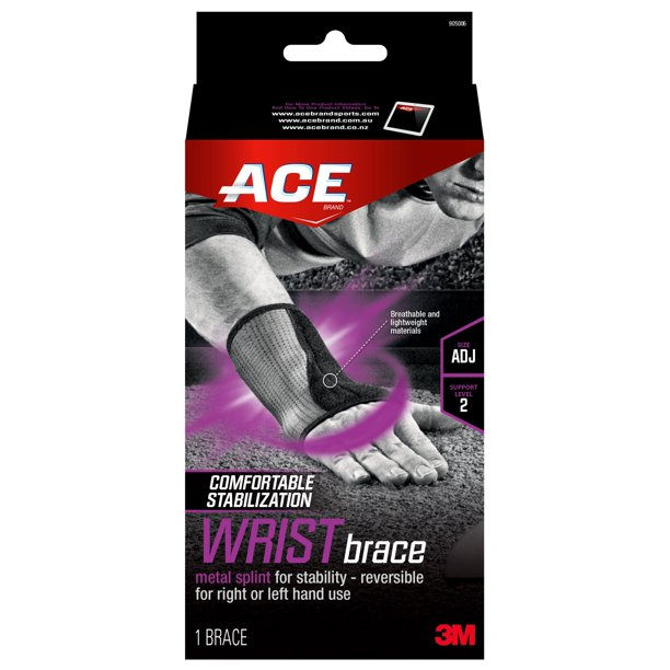 ACE Brand Reversible Splint Wrist Brace, Adjustable