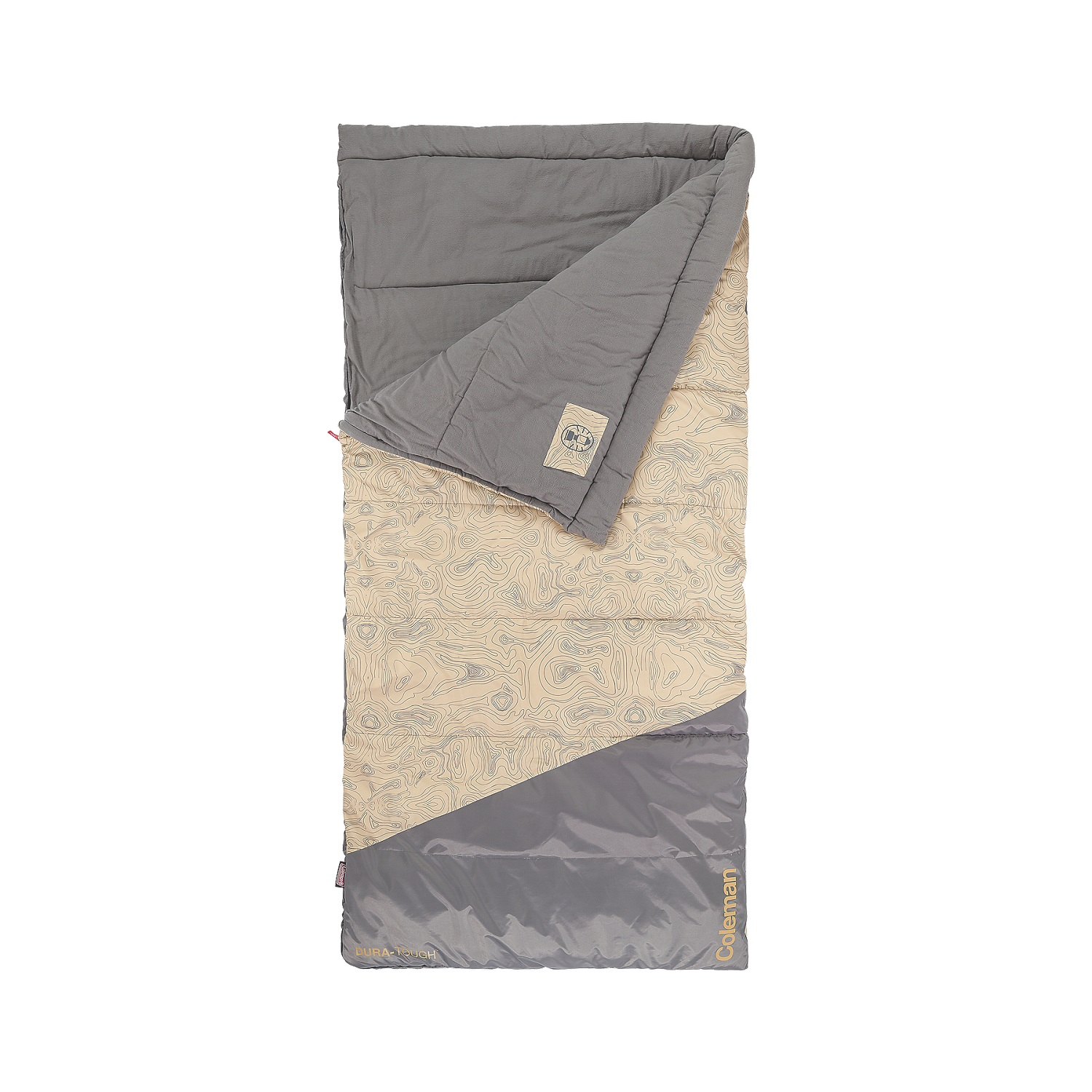 """Coleman Big-N-Tall 30 Sleeping Bag, Tan Fits up to 6'7"""" by COLEMAN"""