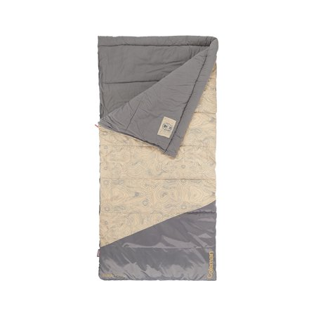 Coleman Big-N-Tall 30 Sleeping Bag, Tan Fits up to