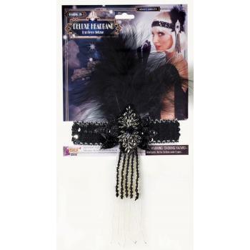 Flapper Costume Accessories (BLK FLAPPER HDBD W/BLK)