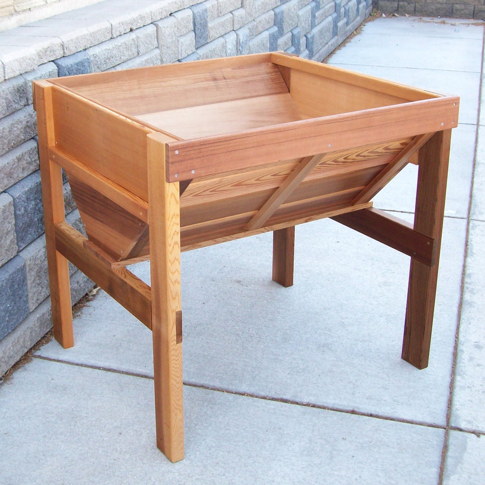 Wood Country Cedar Wood Vegetable Raised Planter Box Walmartcom