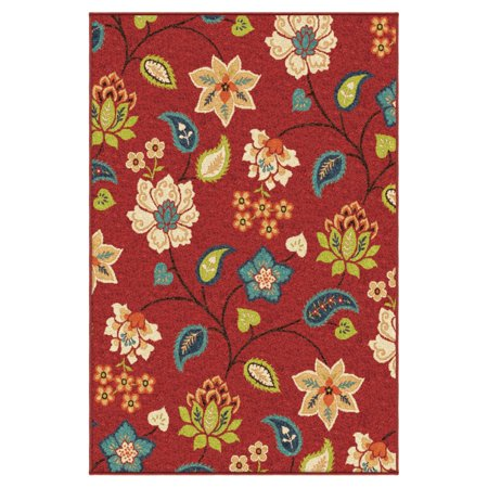 Red Floral Outdoor Rug (Orian Rugs Floral St. Thomas Indoor/Outdoor Area)