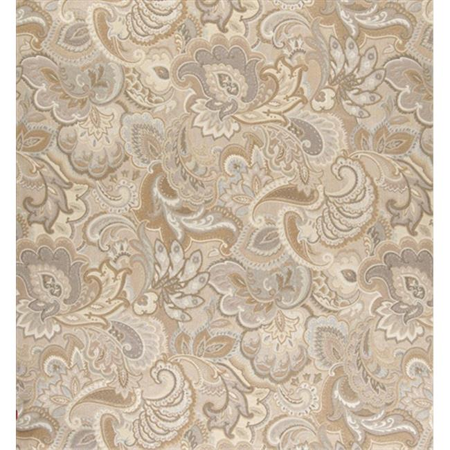 Designer Fabrics K0025C 54 in. Wide Gold And Beige, Abstract Floral Upholstery Fabric