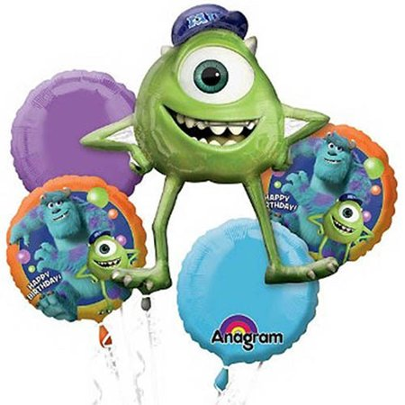 Monsters University Character Authentic Licensed Theme Foil Balloon Bouquet