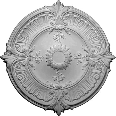 "Ekena Millwork CM30AT 30.125"" Wide Attica Acanthus Leaf Ceiling Medallion"