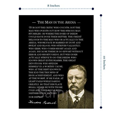 OUTWEST TRADING The Man in The Arena Speech Photo Print on Matte Photo Paper (8 x 10) - image 2 de 4