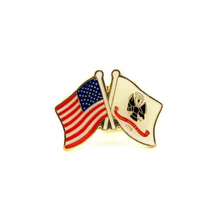 Wholesale Lot of 12 USA Army Flags White Poles Lapel Hat Pin Military Gift PPM639