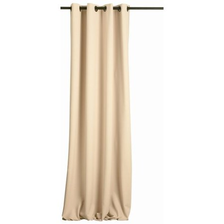 FlagHouse Solid Blackout Grommet Single Curtain Panel - Classroom Curtains