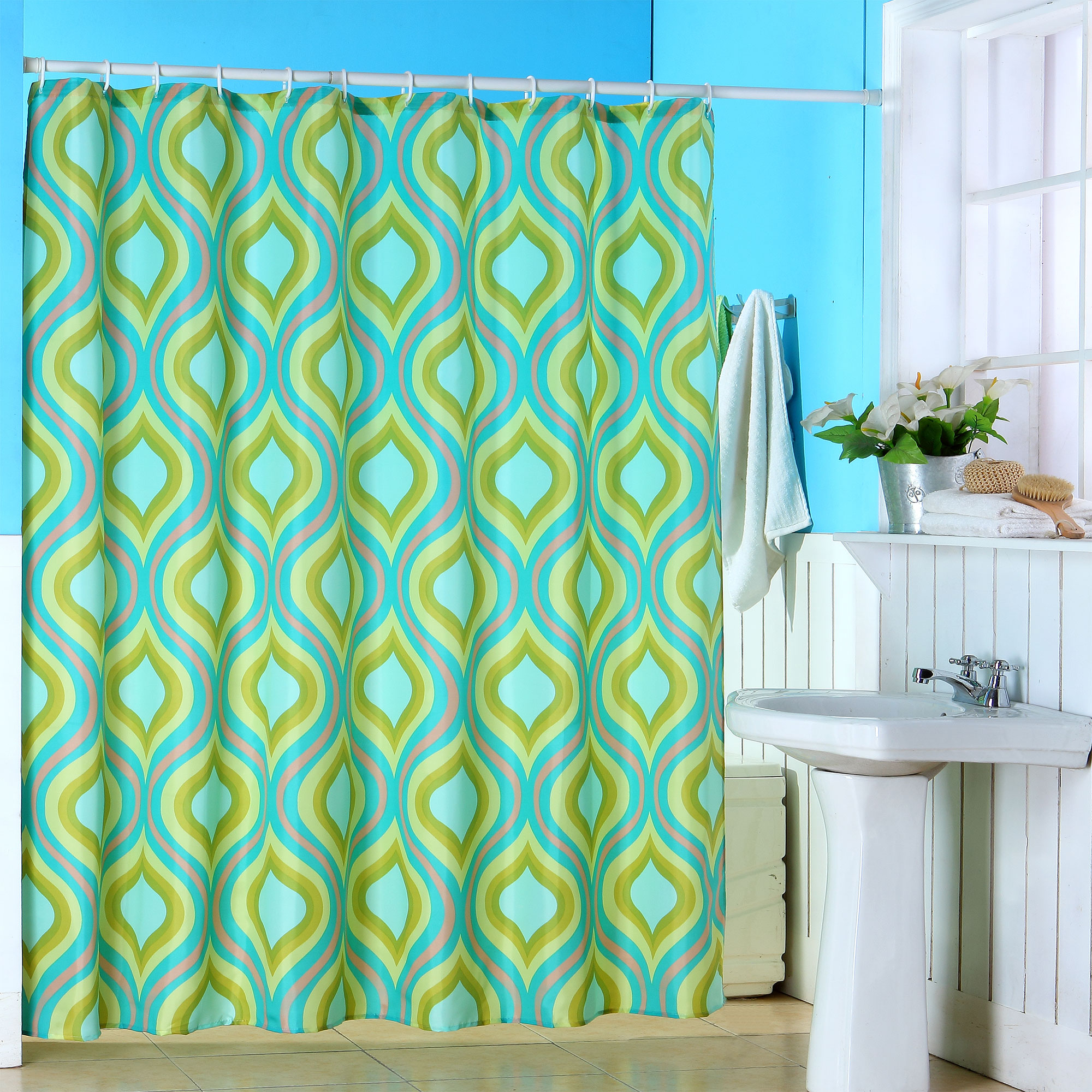 Teardrop Print Shower Curtain by Somerset Home