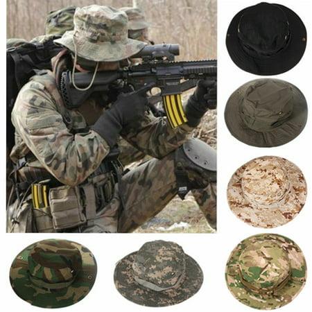 Men Fishing Hunting Hat Bucket Outdoor Sun Protection Fishing Cap Sun Block Hat Washed Combat Cap Cotton Summer ()
