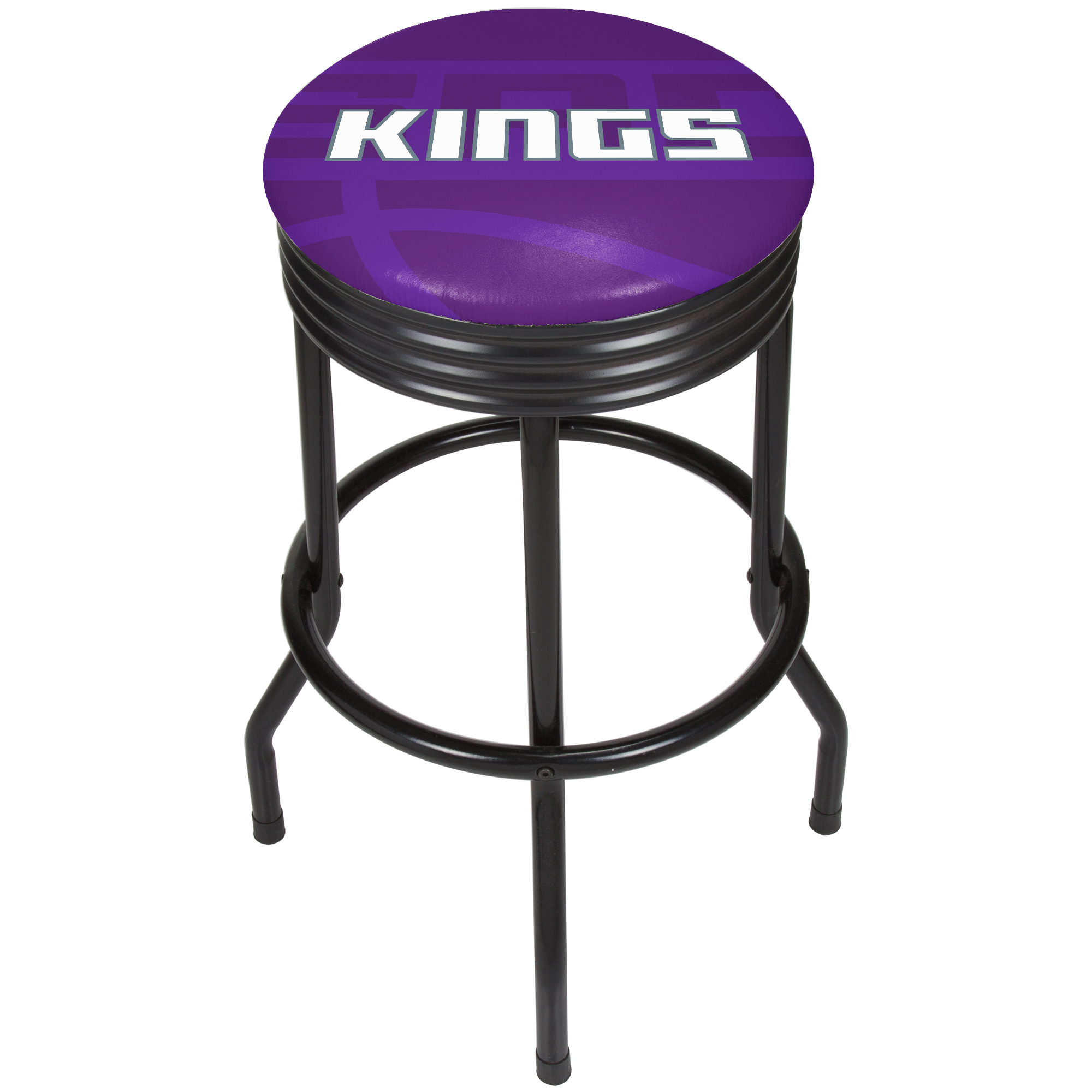 NBA Black Ribbed Bar Stool - Fade - Sacramento Kings