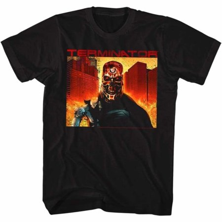 Terminator Movies Endgame Adult Short Sleeve T Shirt (Terminator Costumes For Adults)