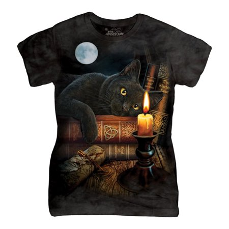 The Mountain Black Cotton The Witching Hour Design Novelty Womens T Shirt