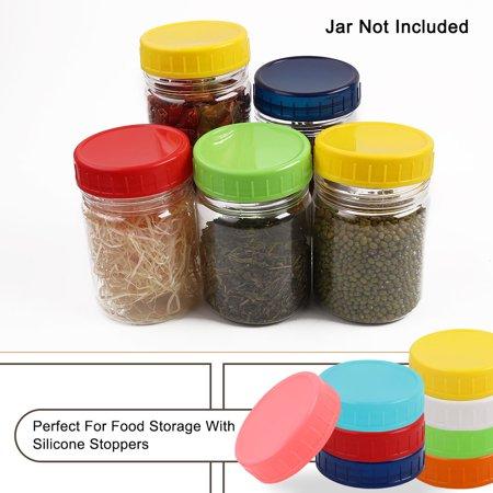 16 Pcs Plastic Mason Jar Lids Regular Mouth Mason Canning Jars Lid Top Food Storage Plastic Canning Lids