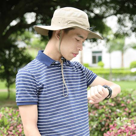 HDE Mens Mesh Bucket Hat Outdoor UV Sun Protection Wide Brim Booney Fishing Cap - image 4 of 6