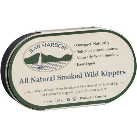 (2 Pack) Bar Harbor All Natural Smoked Wild Kippers, 6.7 oz