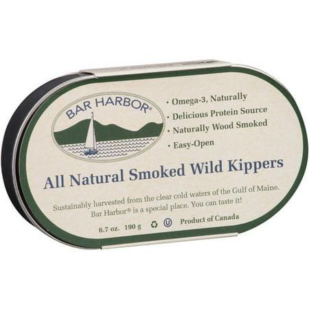 (2 Pack) Bar Harbor All Natural Smoked Wild Kippers, 6.7 oz