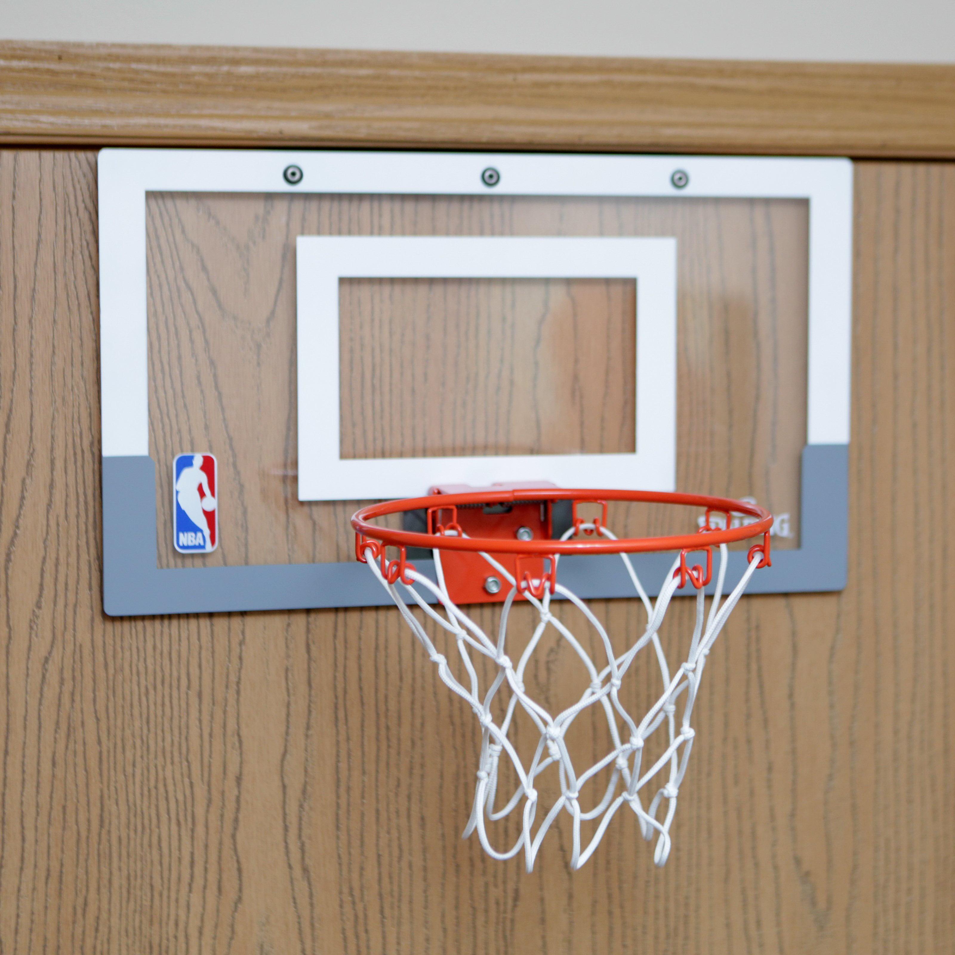 Spalding NBA Slam Jam Over The Door Mini Hoop With Mini Basketball    Walmart.com