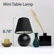 Simple designs mini ceramic globe table lamp black walmart simple designs mini ceramic globe table lamp black image 2 of 4 aloadofball Image collections