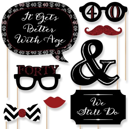40th Anniversary - Photo Booth Props Kit - 20 (40th Anniversary Hat)