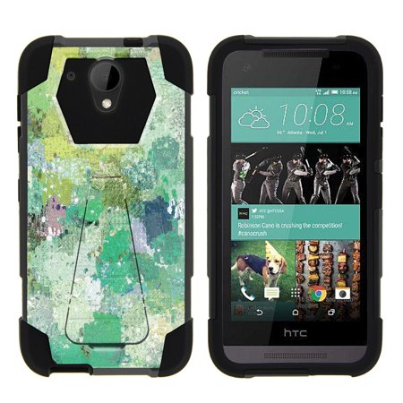 HTC Desire 520 Shock Fusion Heavy Duty Dual Layer Kickstand Case -  Enveloping Green](Mascot Outfit)