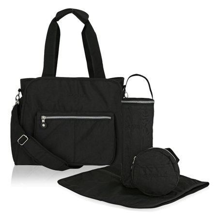 Suvelle RFID, Travel Purse, Tote, Handbags, Baby Diaper Bags, Stroller Organizer, 4-Pcs Set (Crossbody Diaper Bag)